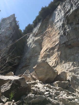Brand new rock face.